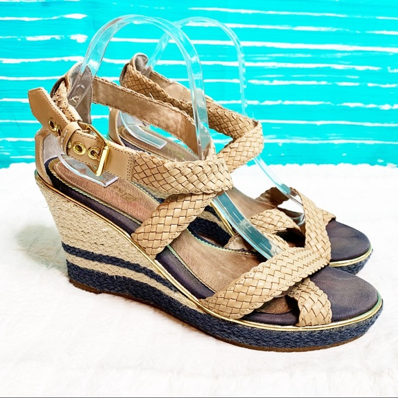 f952bfa2a75 Sperry Top-Siders Tan Blue Espadrille wedge 10